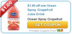 $1.00 off one Ocean Spray Grapefruit Juice Drink
