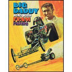 Big Daddy Don Garlits 1970 Promo Poster – Vintage NHRA Top Fuel Drag Racing – My Generation Shop