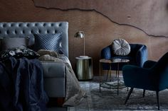 Cosiness at its peak: velvet chairs, throws and pillows create a cold winter heaven. Bed & Bath, Cosy, Duvet Covers, Velvet Chairs, Pillows, Luxury, Bedroom, Winter, Bedding
