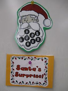 great idea for behavior management during December - could change santa to a snowman? Frosty's Surprise?