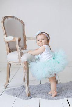 Sweet Mint to Be Tutu Baby Dress Set by StrawberrieRose on Etsy, $68.95