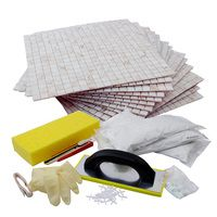 Diy L And Stick Tile Kit A Backsplash In Box It Includes Essential Tools To Get Kitchen Done Few Hours