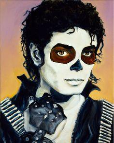 Michael Jackson, Dia de Los Muertos by Jennifer Cahoon