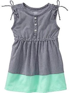 Sleeveless Color-Block Dresses for Baby | Old Navy