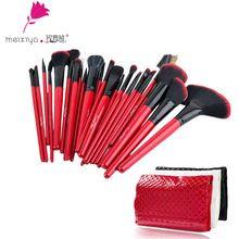 Professional 24 pcs maquillage pinceaux poudre fondation pincel maquiagem fard à paupières lèvres brosse Kit maquillage brosse outils cosmétiques(China (Mainland))