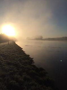 Brrr... koud! - Cold outside!  #sunrise #Dalfsen #Mooirivier #Vechtdal