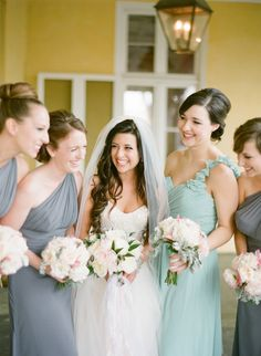 #Bridesmaids | See the wedding on #SMP:  http://www.stylemepretty.com/2013/12/12/traditional-charleston-wedding  Photography - KT Merry