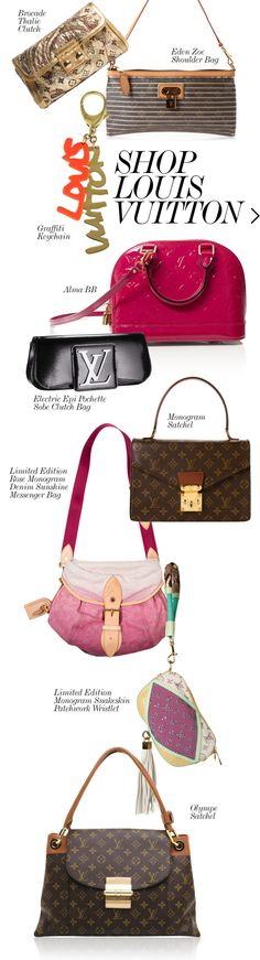 LOUIS VUITTON Collection | Designer Handbags | Fashion | Cute Handbags @ http://www.CuteHandbags.NET