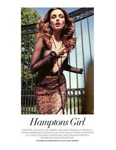 "ONE MAGAZINE: ANDREEA DIACONU IN ""HAMPTONS GIRL"" BY PHOTOGRAPHER KARINE BASILIO"
