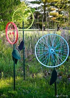 Bicycle Wheel Flowers