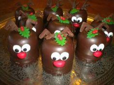 wat een gezellig dessertje zal dat worden – Food And Drink Party Treats, Party Snacks, Holiday Treats, Christmas Treats, Christmas Cookies, Christmas Time, Christmas Decorations, Mini Patisserie, Xmas Desserts