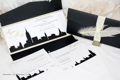 New York Skyline Wedding Invitation by SDezigns - Chic but Classy with a vintage flair.