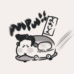 "Nicola on Instagram: ""- PUI PUI ~~~~~🚗💨 最近很紅的#天竺鼠車車 真的豪療癒 紅到連Dcard上面都有一個主題版了 畫了一隻自己的暴走族天竺鼠車 上面旗子寫的是暴走族常用語 「請多多指教」!!!!! 也意味今年請大家多多指教🤣 希望今年大家都可以一飛沖天 發~大~財~ . . .…"" Peace, Illustration, Instagram, Illustrations, Sobriety, World"