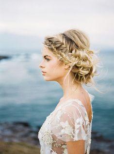 braided wedding up do -- boho hair