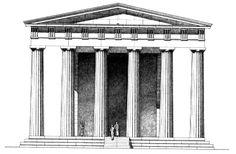 Elevation of Temple of Zeus at Nemea