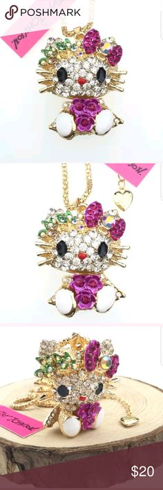 Hello kitty bed of flowers pendant necklace Betsey New with tags chain length is about is 28.5 inches Betsey Johnson Other