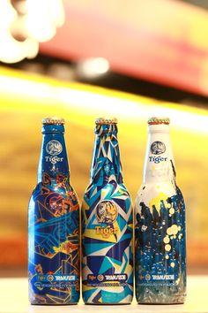Tiger beer bottle designs