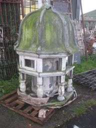 Century Cupola reclaimed from Newtown - Wales. It has a lead roof and oak frame with a zinc ventilator panel in the core. Architectural Antiques, Architectural Features, Architectural Elements, Lead Roof, Salvaged Decor, Kids Doll House, Roof Lantern, French Cottage, French Farmhouse