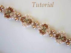 PDF beaded bracelet tutorial  seed bead Swarovski by BeadsMadness