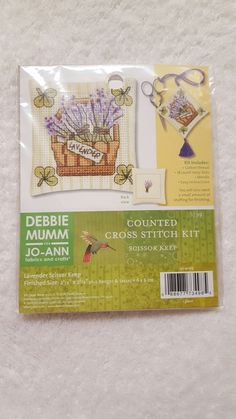 Debbie Mumm for JoAnn Fabrics Counted Cross-Stitch Scissor Keep Kit by yourgalfridayfl on Etsy