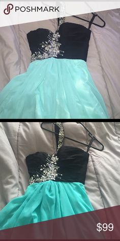 LONG SMALL PROM DRESS This dress is a S! Only worn once and was sitting in my closet! It's such a beautiful dress and it is such good quality! Not see through! It's pretty long! I'm 5'4 and it went down perfectly to my feet! Dresses Prom