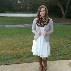 Neutrals & Leopard. Modest Outfit Ideas. Modern Modesty Blog.