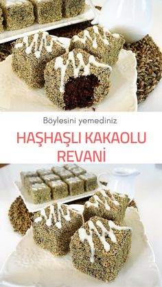 Poppy Seed Cocoa Revani (with video) – Yummy Recipes - Kuchen Ideen :) Yummy Recipes, Cake Recipes, Dessert Recipes, Yummy Food, Turkish Recipes, Banana Pudding, Recipe Using, Food And Drink, Sweets