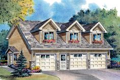 Traditional Style House Plan - 2 Beds 2 Baths 920 Sq/Ft Plan #18-318 Exterior - Front Elevation - Houseplans.com