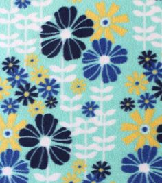 Item # 13632088Anti-Pill Fleece Fabric Springtime Flowers