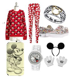 """""""All out Mickey Mouse"""" by audreymefford ❤ liked on Polyvore featuring Vans, Disney, women's clothing, women, female, woman, misses and juniors"""
