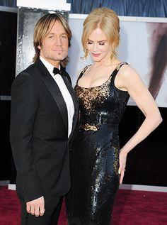 Keith Urban and Nicole Kidman arrives at the Oscars at Hollywood & Highland Center on February 24, 2013 in Hollywood, California.