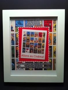 Advent Shadowbox Day #27. Allons au Cinema! Time to go see Tintin!!!!