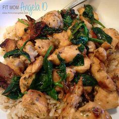 Chicken Spinach Saute - Fit Mom Angela D - Team Beachbody Coach
