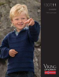 Garter Stripes Boys Sweater Free Knitting Pattern