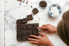 Rich, Raw Goji Brownies - Punch Foods