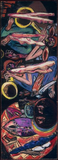 """The Tempest,"" 1930; 1946-49, Max Beckmann  Beckmann constantly reworked this canvas and in a letter to a friend said that ""[t]he picture… represents a storm in the cosmic realm"