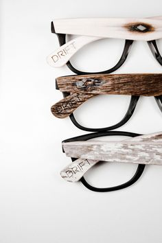 DRIFT 003. Glasses framework made of wood. Drewniane oprawki na okulary. Four Eyes, Sunglasses Sale, Wooden Sunglasses, Sunglasses Women, Eyeglasses, Sunnies, Designer Frames, Normal Person, Fashion Eye Glasses