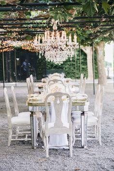Intimate garden chic wedding tables: http://www.stylemepretty.com/2016/09/02/napa-valley-garden-party-small-wedding/ Photography: Jana Williams - http://jana-williams.com/