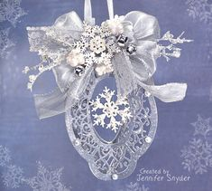 DIY Ornaments with Spellbinders Dies (Part 2) It's the season of Christmas card making, but I had time to squeeze a few ornaments a...