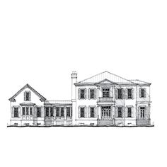 Allison Ramsey Architects | Floorplan for The Mount Pleasant - 4406 sqaure foot house plan # C0567