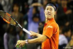 Kei Nishikori at Rakuten Japan Tennis Open Championships 2015