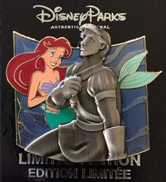 DISNEY PIN ARIEL THE LITTLE MERMAID PRINCE ERIC STATUE SURPRISE PUZZLE LE PIN