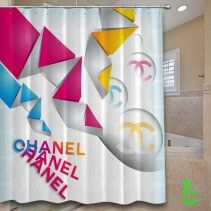Chanel color origami abstract Shower Curtain
