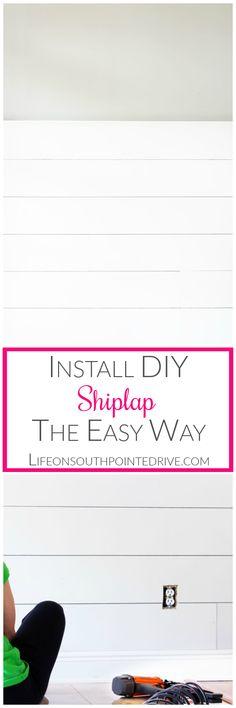 Home - Install DIY Shiplap the Easy Way, Easy Shiplap, DIY Shiplap, Shiplap Tutorial, Easy Shiplap, Easy DIY Shiplap Walls