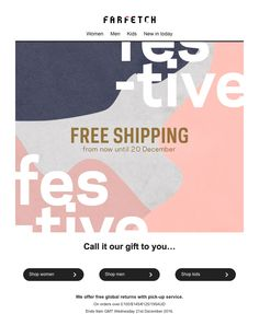 farfetch free international shipping code