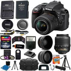 Nikon Digital Slr Camera 3 Lens Kit Vr Lens + Best Value Bundle Nikon D3300, Nikon Dx, New Nikon, Camera Nikon, Camera Store, Kit, Camera Deals, Telephoto Zoom Lens, Tecnologia