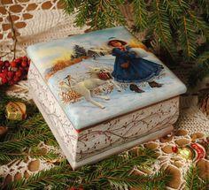 """Купить Шкатулка """" Зимняя прогулка"""" - Новый Год, новый год 2015, подарок на новый год, шкатулка"""
