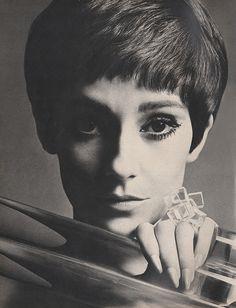 November 1967. 'Estee Lauder's new Transparencies – makeup that's gossamer as a glow can go.'