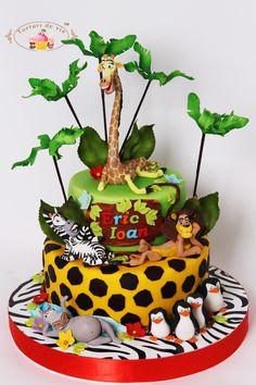 Torturi - Viorica's cakes: Tort Madagascar pentru Eric Ioan
