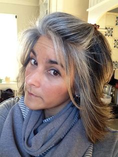 "Search Results for ""blending gray hair with highlights blending gray hair with highlights blending in greys in brown hair gray blending hair highlights"" Dark Auburn Hair, Dark Hair, Gray Hair Growing Out, Grow Hair, Pelo Color Plata, Gray Hair Highlights, Growing Out Highlights, Grey Hair Don't Care, Long Gray Hair"